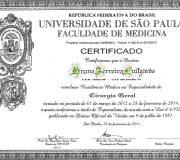 Diploma Residencia Cirurgia Geral - Dr. Bruno Luitgards