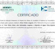 Certificado - Curso Teórico Prático sobre Deformidades Congênitas e Adquiridas da Região Órbito-Palpebral