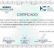 Certificado - Especialização em Rinoplastia Estética e Funcional